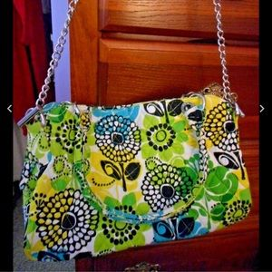 New Vera Bradley Limes Up Purse with chain $78 Rt